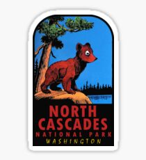 Bear Cub at North Cascades National Park Vintage Travel Decal Sticker