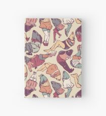 Peppy Springtime Legfish Pattern (Faded) Hardcover Journal