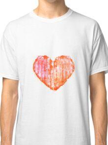 Pop Art Style Grunge Graphic Heart Classic T-Shirt