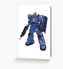 Gundam One - Big Blue Greeting Card