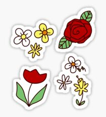 Cute Flowers Sticker