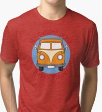My Camper is my Happy Place! Tri-blend T-Shirt