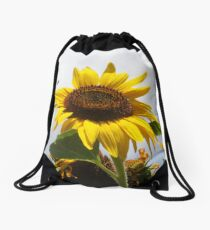 Sunflower with Bee Drawstring Bag