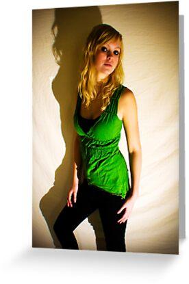 Sanna in green II by Pestbarn