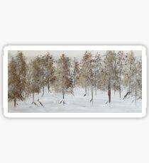 Golden Winter Sticker