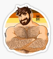 ADAM LIKES CROSSING ARMS - BEARPRIDE Sticker