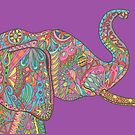 Beautiful bold paisley elephant by Lynn Excell