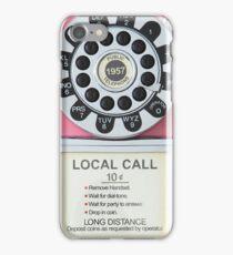 RETRO TELEPHONE - PINK iPhone Case/Skin