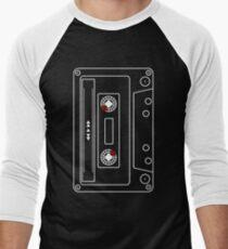 Cassette Tape Old School Pop Culture 80 90 Retro Casual Street Wear Men's Baseball ¾ T-Shirt