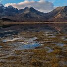 Blaven and Clach Glas across Loch Slapin by derekbeattie