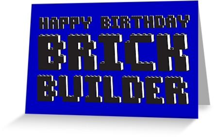 HAPPY BIRTHDAY BRICK BUILDER by ChilleeW