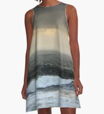 Stormy seas in colour II - Photography A-Line Dress