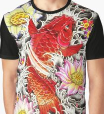 Benigoi Koi with flowers Graphic T-Shirt