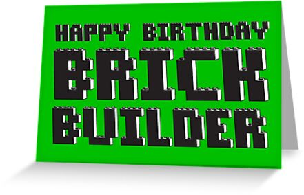 HAPPY BIRTHDAY BRICK BUILDER by ChilleeW