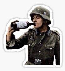 German Soldier Drinking Sticker