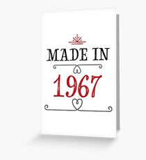 made in 1967 Greeting Card