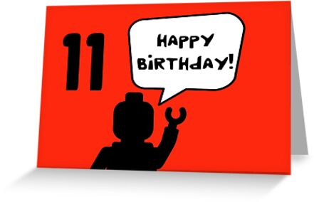 Happy 11th Birthday Greeting Card by ChilleeW