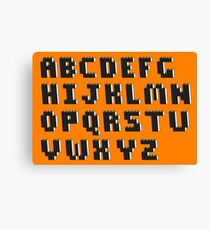 Brick Font Alphabet Canvas Print