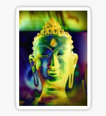 5048 Buddha head Sticker