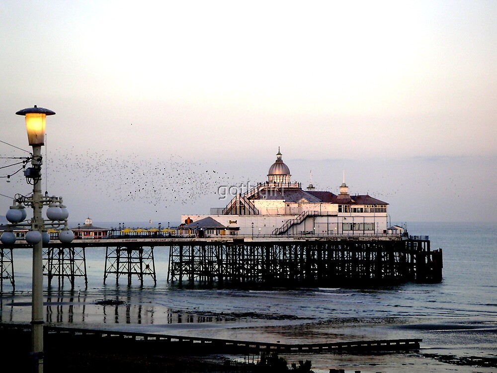 The Pier at evening by gothgirl