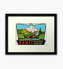 Banff Alberta Canada National Park Vintage Travel Decal Framed Print