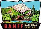 Banff Alberta Canada National Park Vintage Travel Decal by hilda74