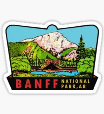 Banff Alberta Canada National Park Vintage Travel Decal Sticker