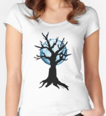Season Trees: Winter Women's Fitted Scoop T-Shirt