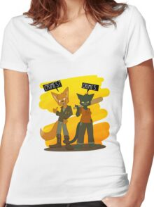 Crimes with Gregg Women's Fitted V-Neck T-Shirt
