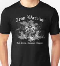 Iron Warrior Crest - Eat, Sleep, Conquer, Repeat Unisex T-Shirt