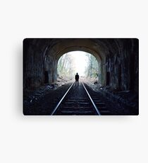 Waiting at the End of the Tunnel Canvas Print