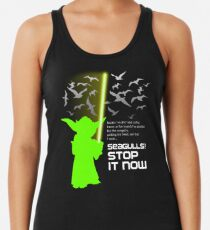 Seagulls Stop It Now! Racerback Tank Top