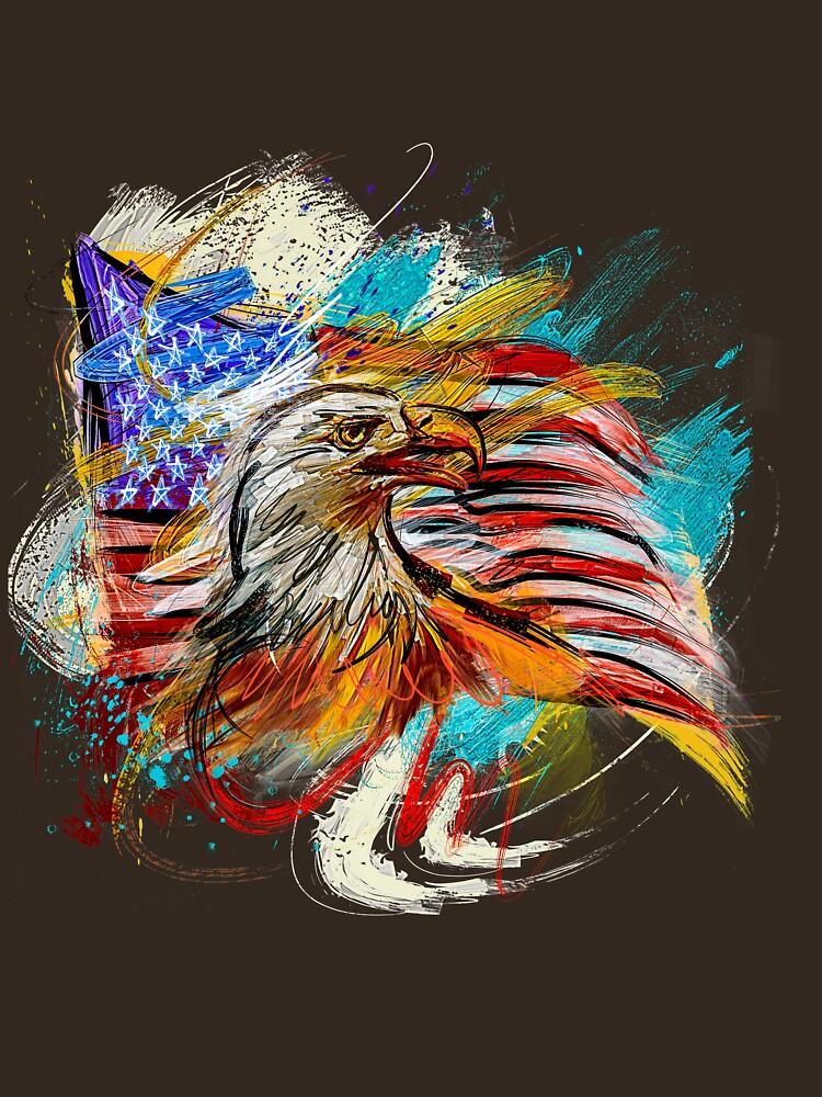 USA Flag Eagle by StoyanMarinov