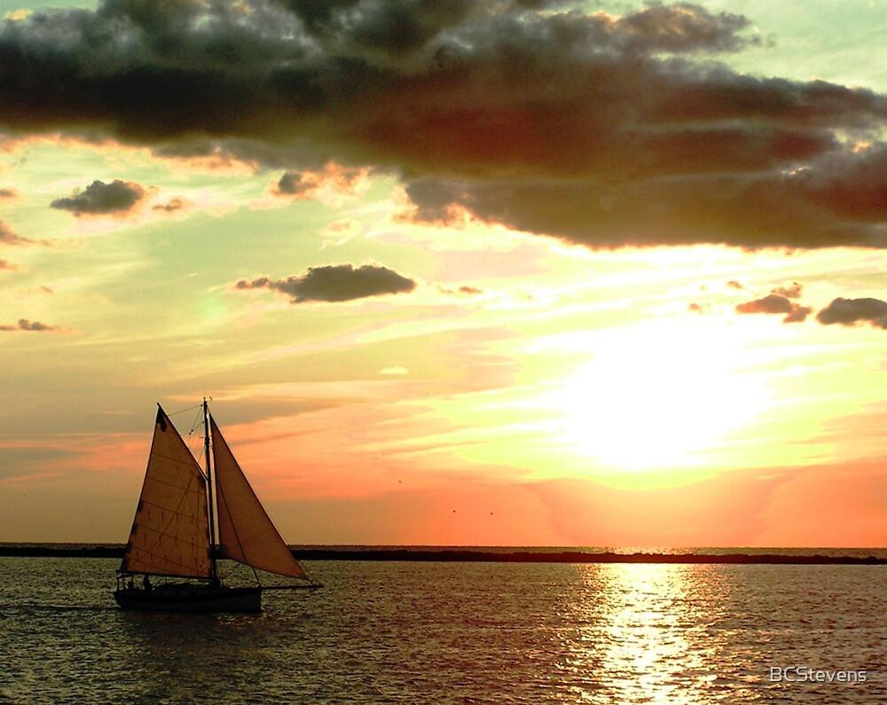 Sailboat Sunset by BCStevens