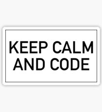 Keep calm and code Sticker