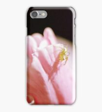 Spider on Pink Flowers in Film iPhone Case/Skin