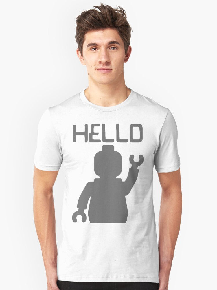 Minifig Hello Unisex T-Shirt Front