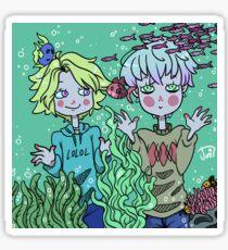 Yoosung and Saeran at the Aquarium  Sticker