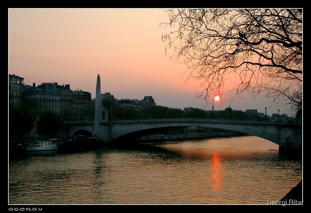 Seine at sunset by Georgi Bitar