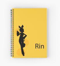Kagamine Rin Silhouette Spiral Notebook