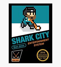8 Bit Shark City Art Box Photographic Print