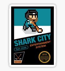8 Bit Shark City Art Box Sticker