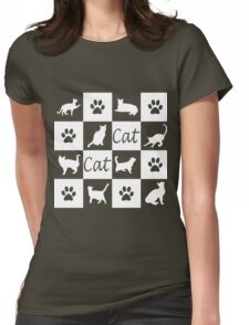 Chess board cats Womens Fitted T-Shirt