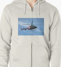 2003 Bell Helicopter Model 407 - Life Flight Eagle  Zipped Hoodie