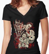 Horror guys Women's Fitted V-Neck T-Shirt