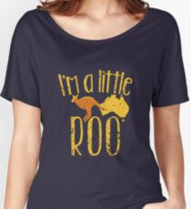 I'm a little ROO cute kangaroo with Australian map distressed version Women's Relaxed Fit T-Shirt