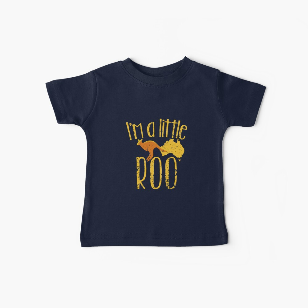 I'm a little ROO cute kangaroo with Australian map distressed version Baby T-Shirt