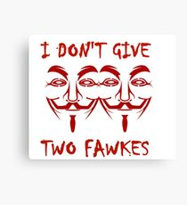 TWO FAWKES Canvas Print