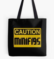 Caution Minifigs Sign Tote Bag