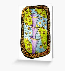 Crinoid Archimedes Fossil Greeting Card